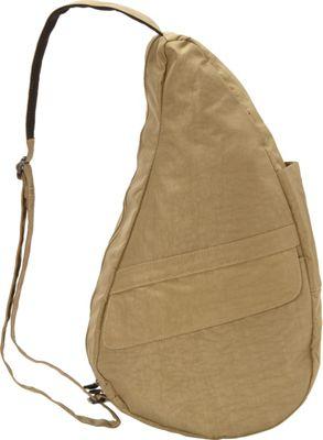 AmeriBag Healthy Back Bag  evo Distressed Nylon Medium Taupe - AmeriBag Fabric Handbags