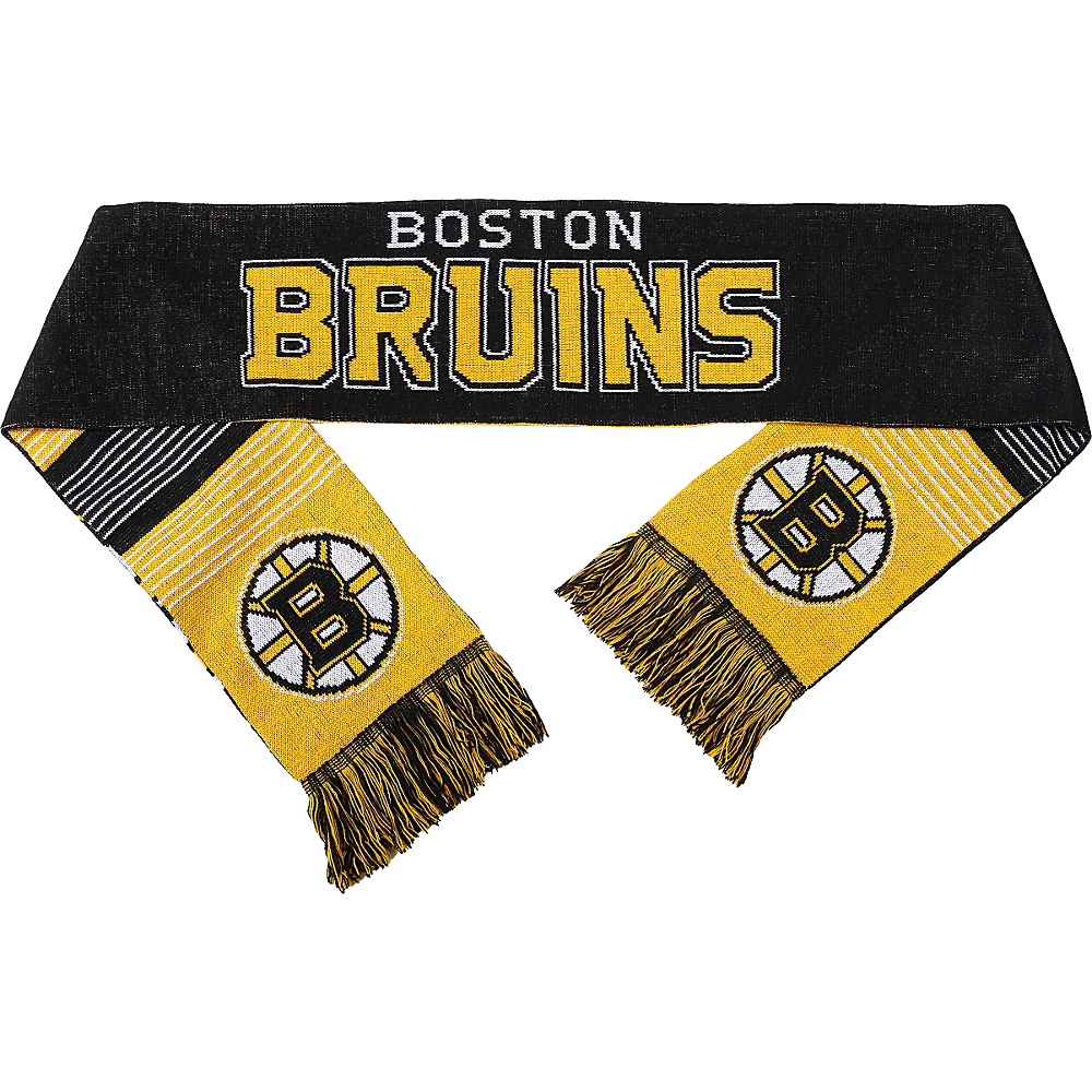 Forever Collectibles NHL Reversible Split Logo Scarf Yellow Boston Bruins Forever Collectibles Hats Gloves Scarves