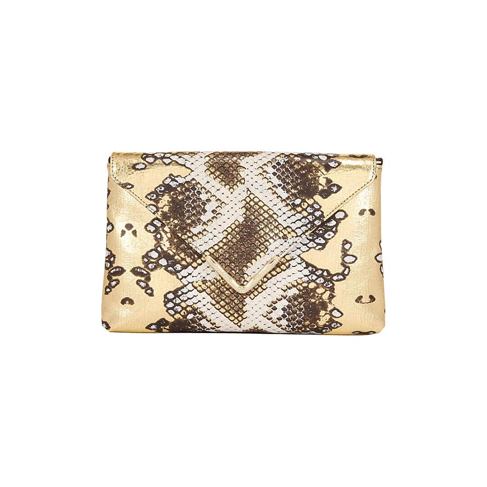 Elaine Turner Bella Python Clutch Summer Snow Elaine Turner Designer Handbags