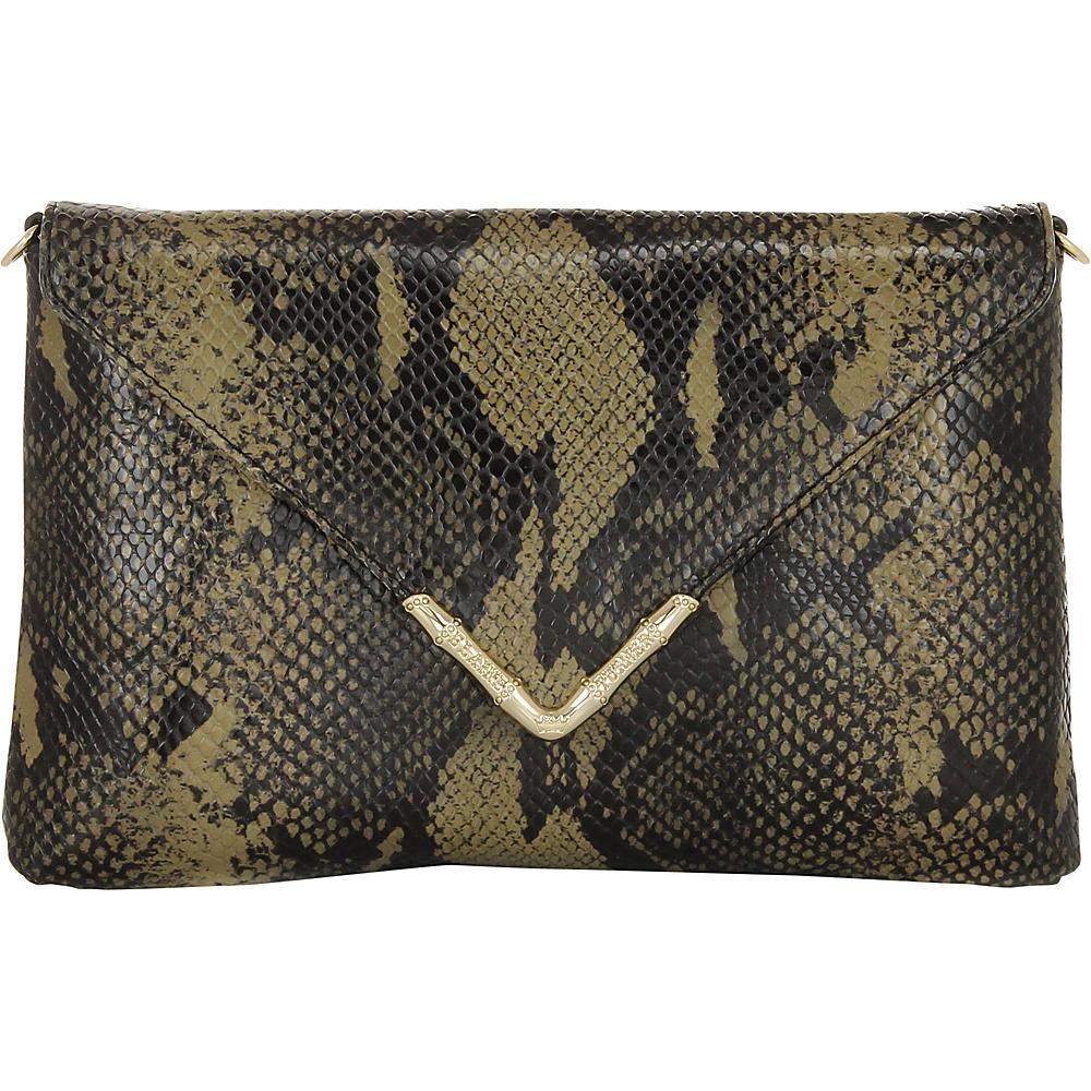 Elaine Turner Bella Python Clutch Golden Moss Python Elaine Turner Designer Handbags