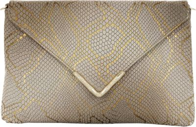 Elaine Turner Bella Python Clutch Golden Ring Python - Elaine Turner Designer Handbags