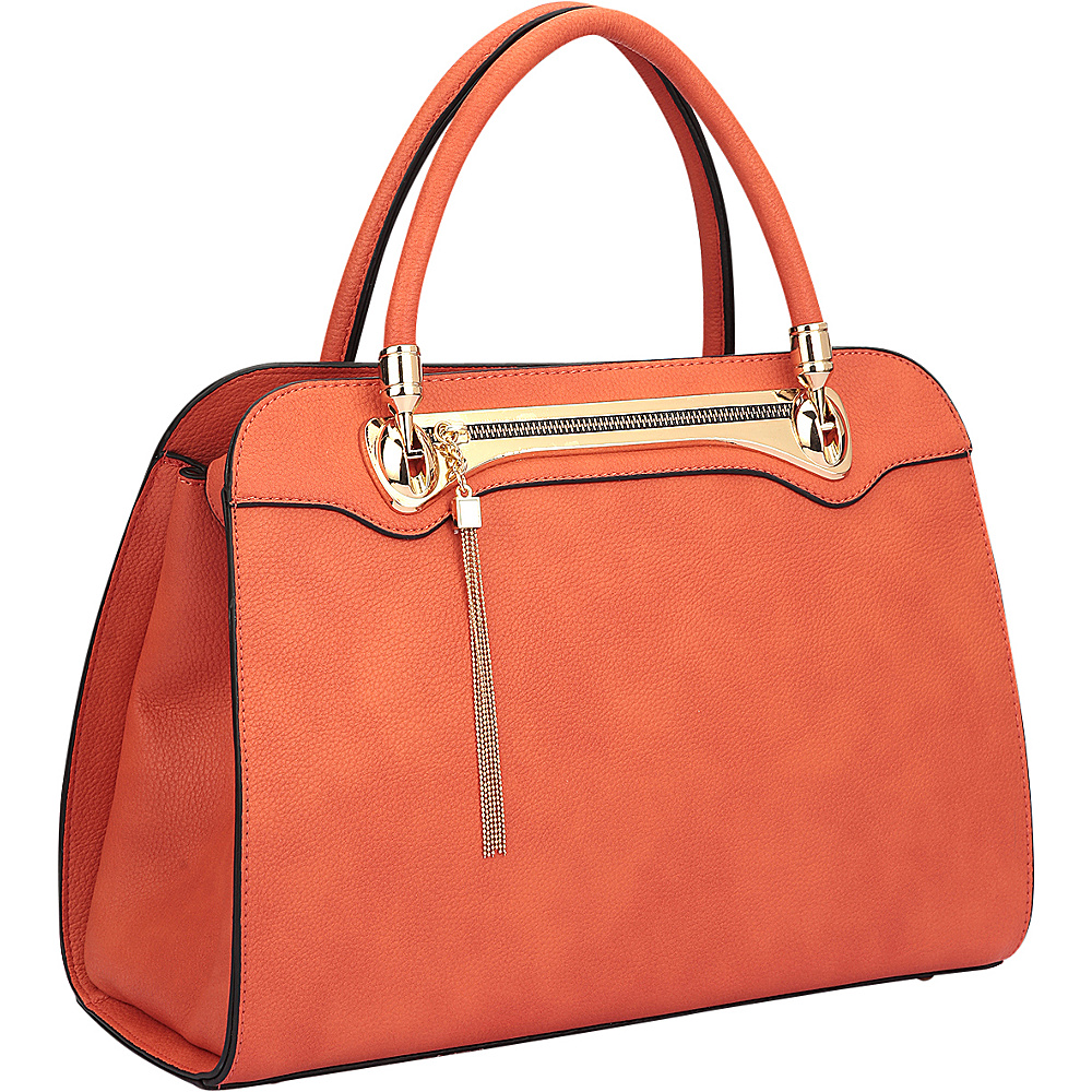 Dasein Fashion Gold Tone Satchel Orange - Dasein Gym Bags - Sports, Gym Bags