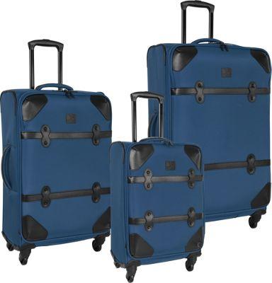 Diane Von Furstenberg Julie 3 Piece Set Faded Indigo - Diane Von Furstenberg Luggage Sets