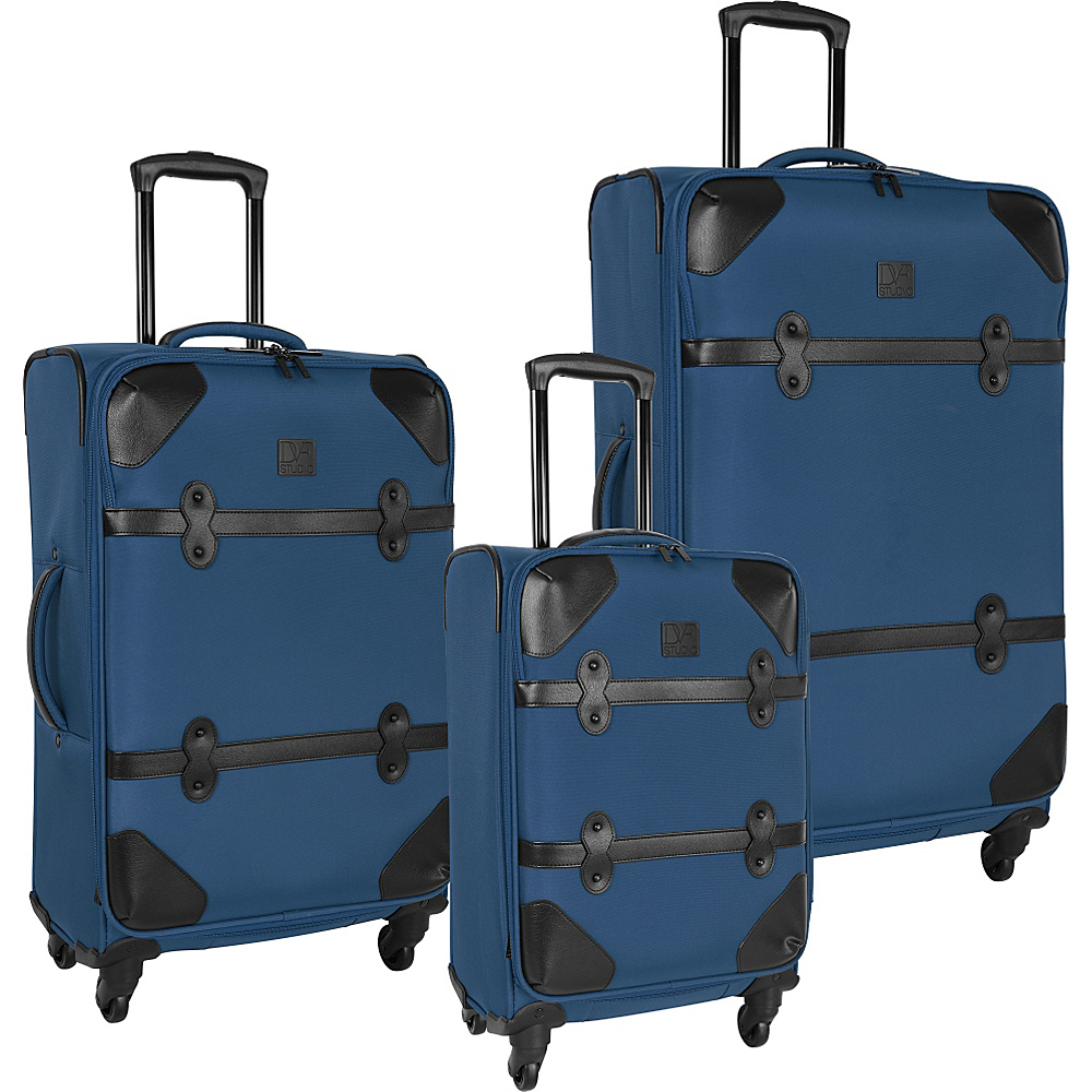 Diane Von Furstenberg Julie 3 Piece Set Faded Indigo - Diane Von Furstenberg Luggage Sets