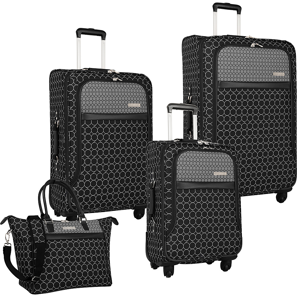 Nine West Luggage Corra 4 Piece Set Black/Grey - Nine West Luggage Luggage Sets