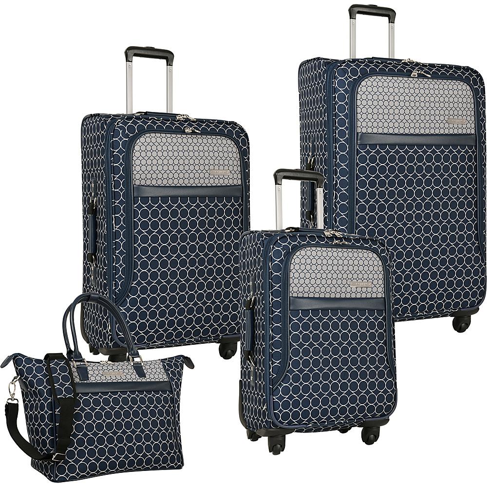 Nine West Luggage Corra 4 Piece Set Navy/Grey - Nine West Luggage Luggage Sets