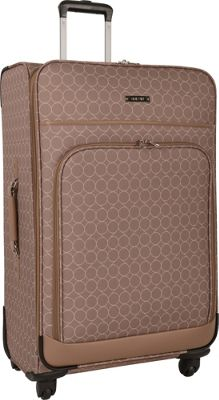 Nine West Luggage Allea 24 inch Expandable Spinner Taupe - Nine West Luggage Softside Checked