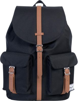 Herschel Supply Co. Dawson Large Backpack Black/Tan Synthetic Leather - Herschel Supply Co. Business & Laptop Backpacks
