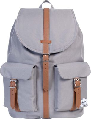 Herschel Supply Co. Dawson Large Backpack Grey/Tan Synthetic Leather - Herschel Supply Co. Business & Laptop Backpacks