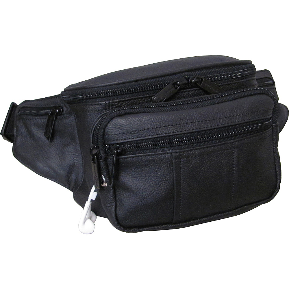 AmeriLeather Easy Traveller Fanny Pack Black - AmeriLeather Travel Wallets - Travel Accessories, Travel Wallets