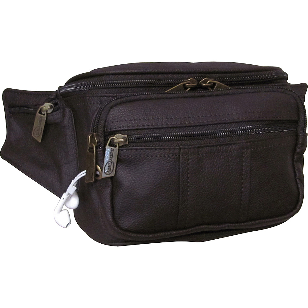AmeriLeather Easy Traveller Fanny Pack Waxy Brown - AmeriLeather Travel Wallets - Travel Accessories, Travel Wallets