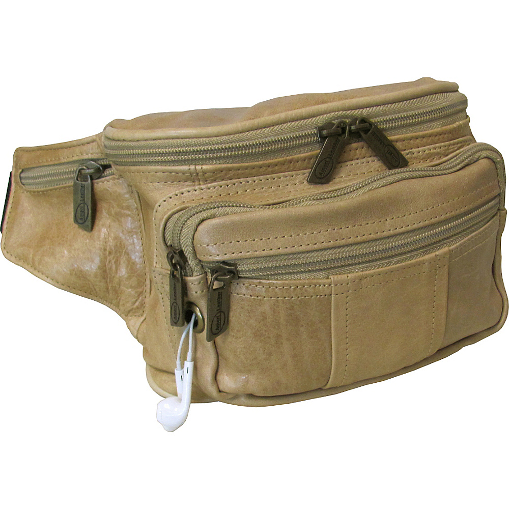 AmeriLeather Easy Traveller Fanny Pack Vintage Tan - AmeriLeather Travel Wallets - Travel Accessories, Travel Wallets