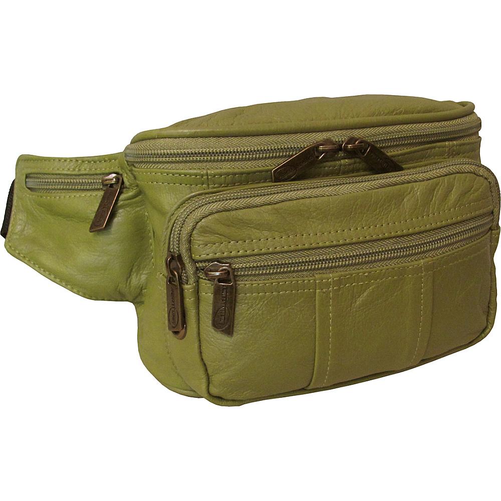 AmeriLeather Easy Traveller Fanny Pack Lime - AmeriLeather Travel Wallets - Travel Accessories, Travel Wallets