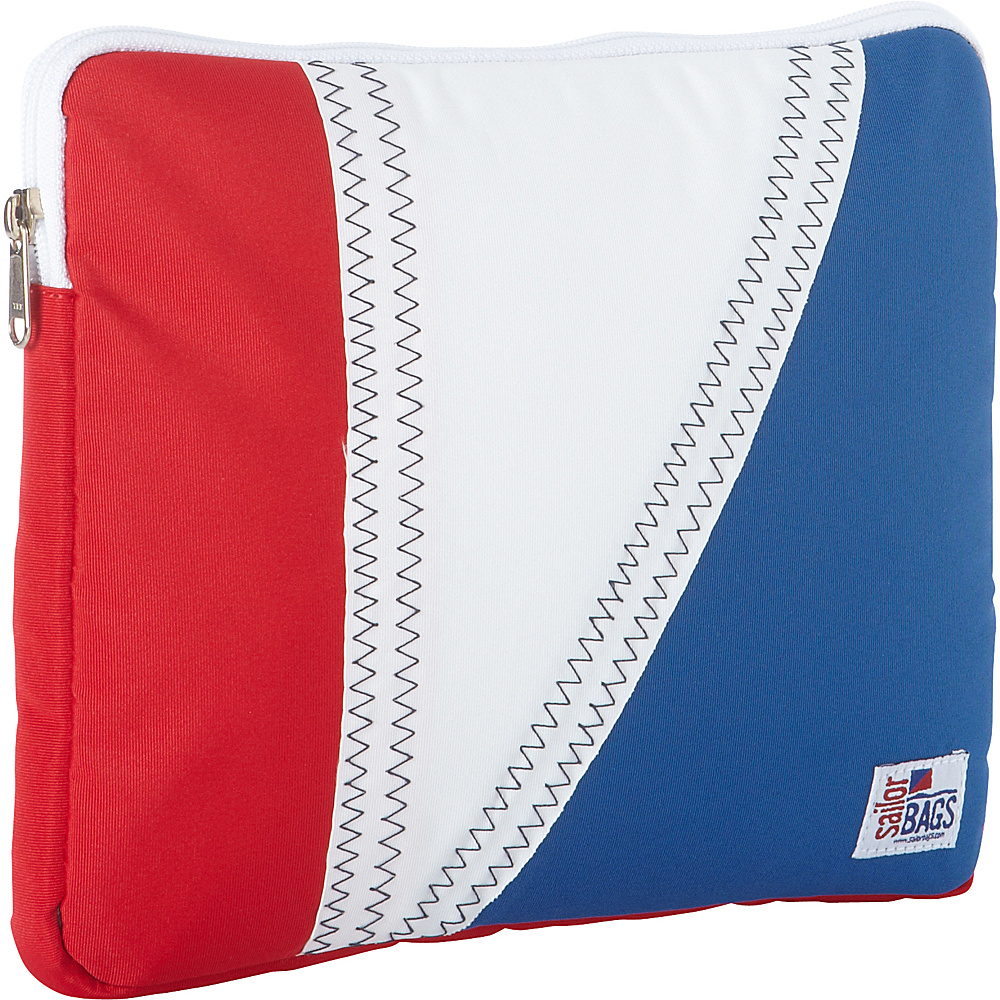 SailorBags Tri Sail iPad Tablet Sleeve Red White and Blue with Grey Trim SailorBags Electronic Cases