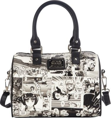 Loungefly Star Wars Black And White Comic Duffle Blk/Wht - Loungefly Manmade Handbags