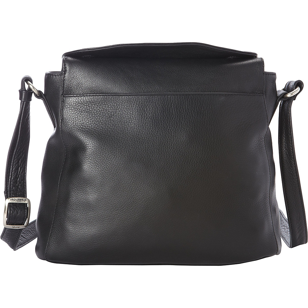 Derek Alexander Medium NS Cross Shoulder Tablet Friendly Black - Derek Alexander Leather Handbags - Handbags, Leather Handbags