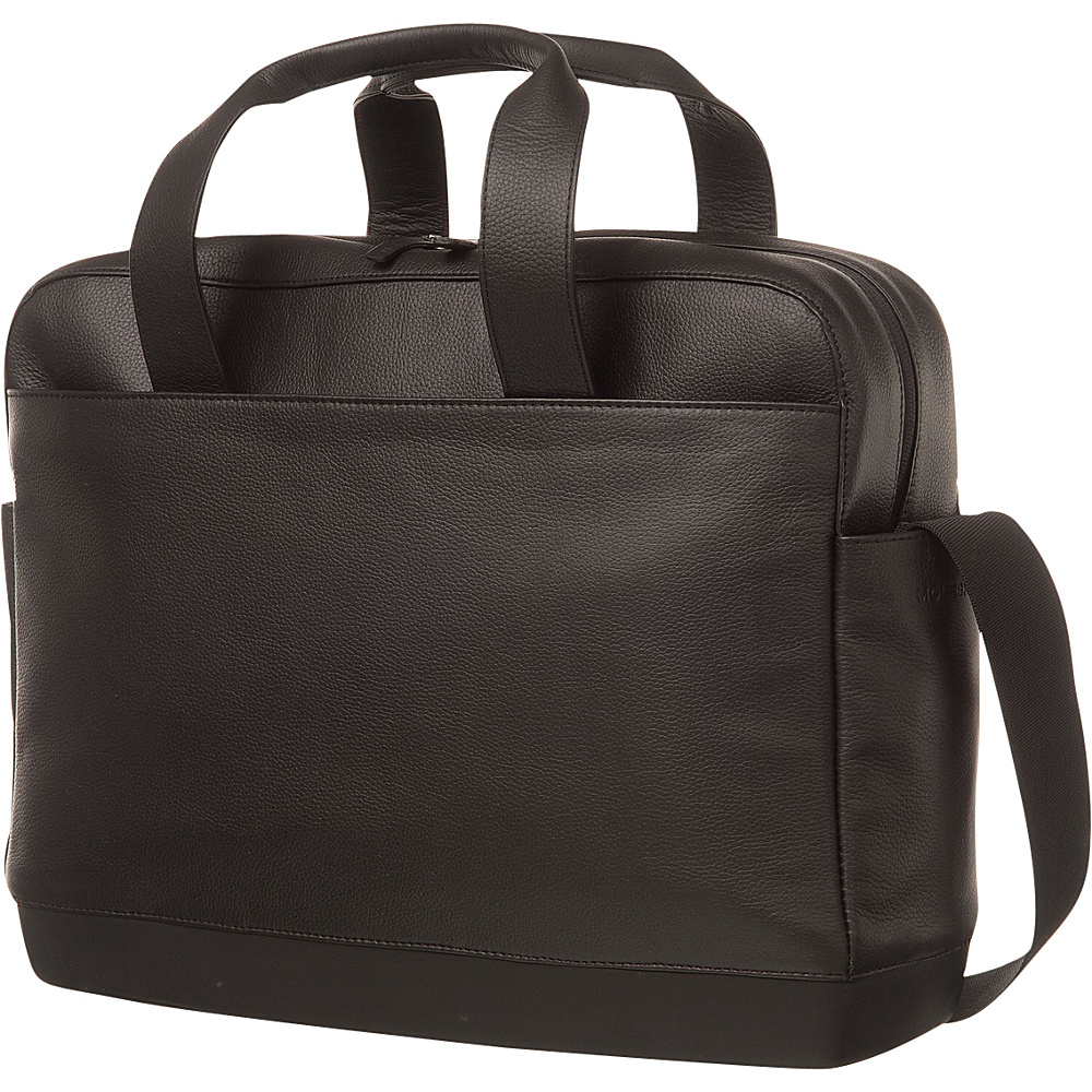 Moleskine Classic Leather Utility Bag Black - Moleskine Non-Wheeled Business Cases