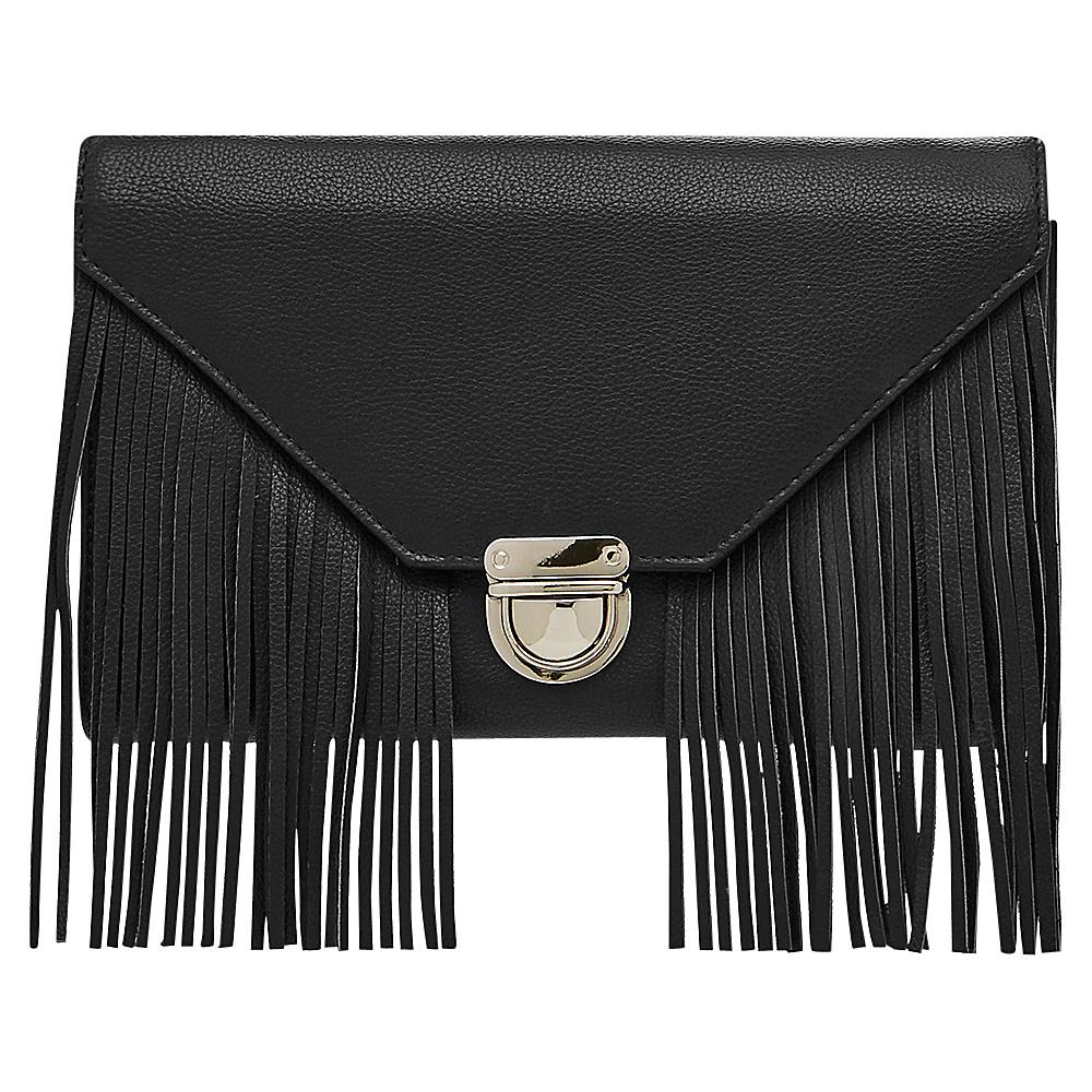 HButler Mighty Purse Cell Charging Tassel Wallet Bag Black HButler Manmade Handbags