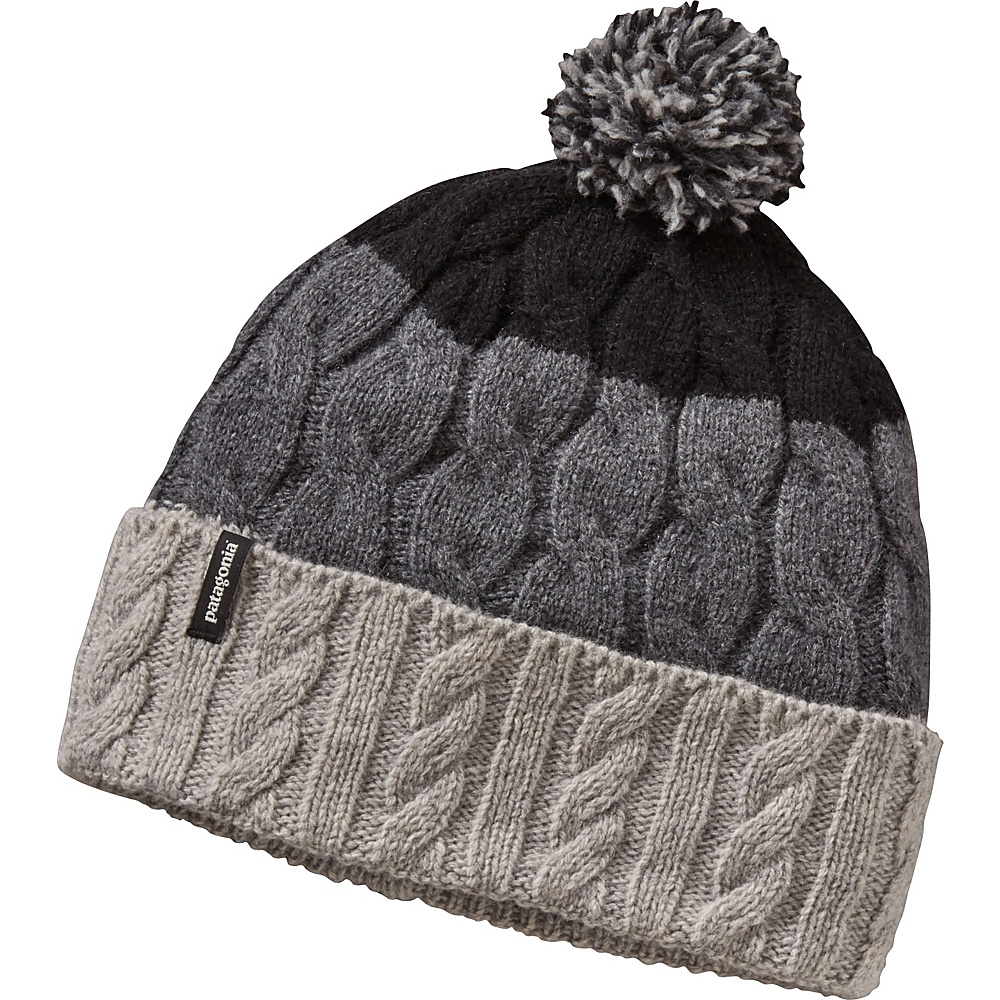 Patagonia Ws Pom Beanie One Size - Glacier Stripe: Drifter Grey - Patagonia Hats/Gloves/Scarves - Fashion Accessories, Hats/Gloves/Scarves
