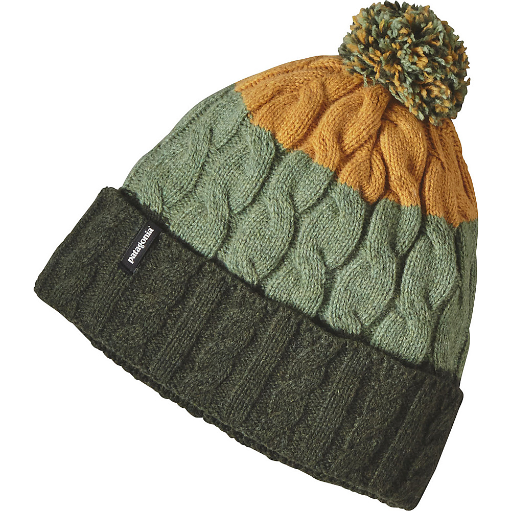 Patagonia Ws Pom Beanie One Size - Glacier Stripe: Industrial Green - Patagonia Hats/Gloves/Scarves - Fashion Accessories, Hats/Gloves/Scarves