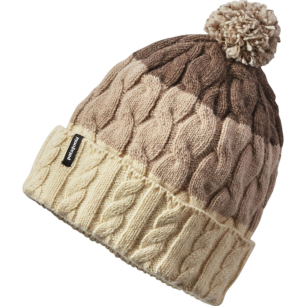 Patagonia Ws Pom Beanie One Size - Glacier Stripe: Toasted White - Patagonia Hats/Gloves/Scarves - Fashion Accessories, Hats/Gloves/Scarves