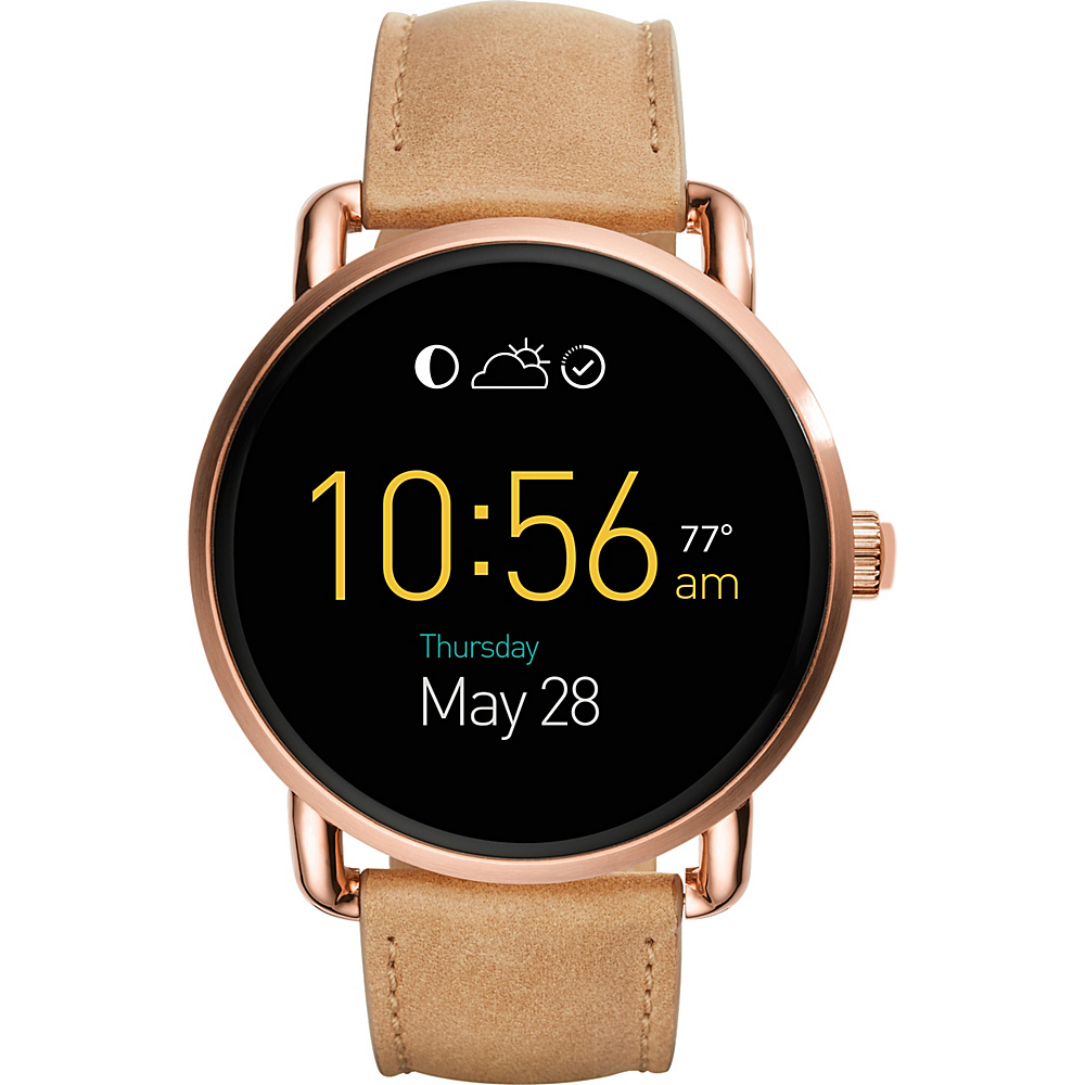 Fossil Q Wander Leather Touchscreen Smartwatch Beige - Fossil Wearable Technology - Technology, Wearable Technology