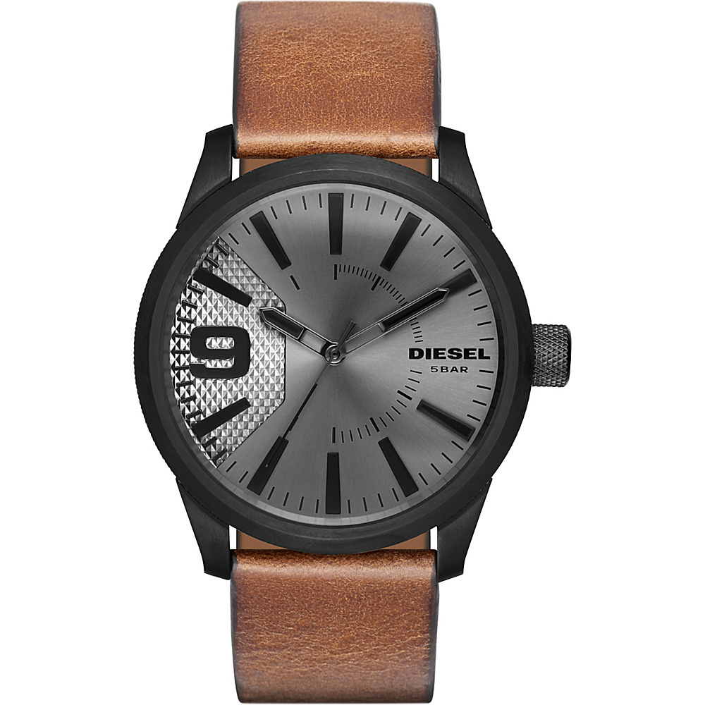Diesel Watches Rasp Leather Watch Brown - Diesel Watches Watches