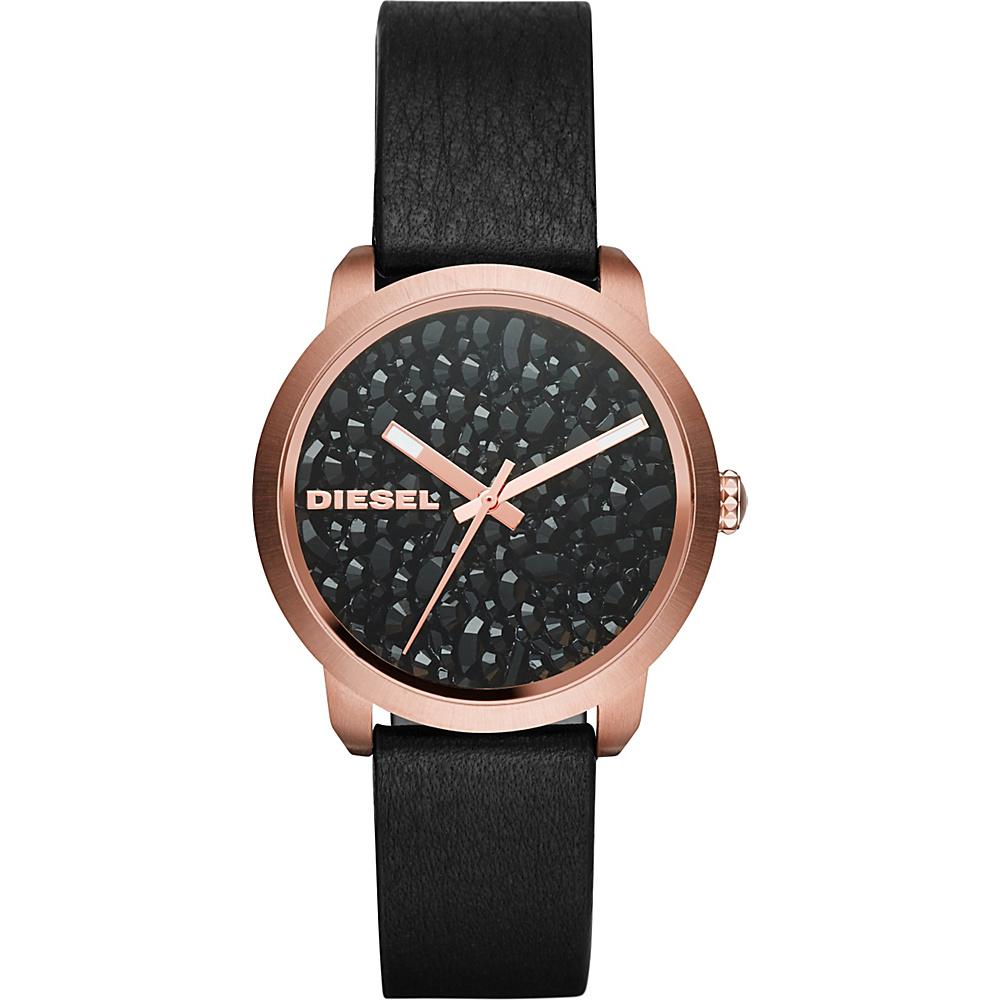 Diesel Watches Flare Series Leather Watch Black - Diesel Watches Watches