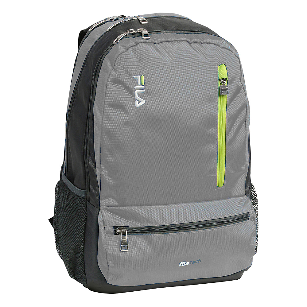 Fila Nexus Tablet and Laptop School Backpack 5 Pockets Grey Fila Everyday Backpacks