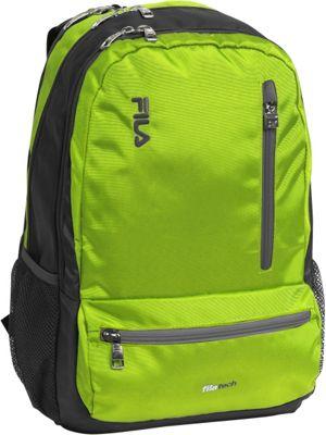 Fila Nexus Tablet and Laptop School Backpack - 5 Pockets Lime Green - Fila Everyday Backpacks
