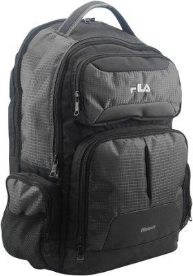 Fila Slam Tablet and Laptop Backpack - 6 Pockets Black - Fila Everyday Backpacks