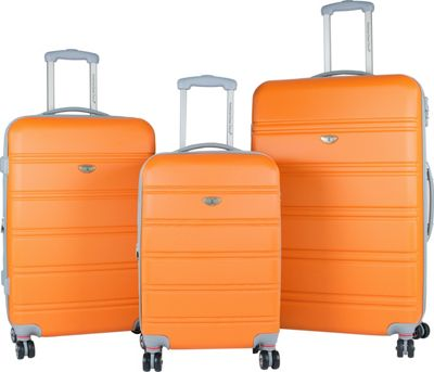 American Green Travel American Green Travel 3-Piece Hardside Spinner Luggage Set with TSA Lock Orange - American Green Travel Luggage Sets