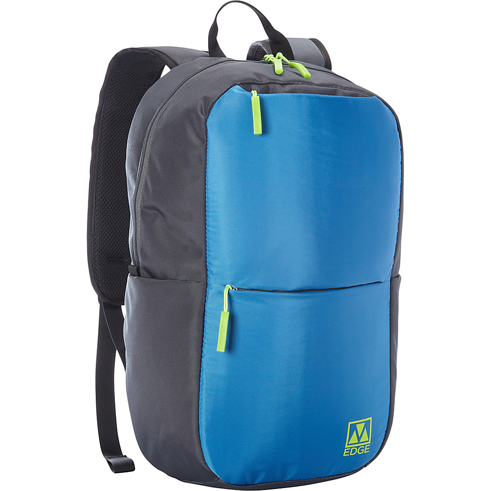 M Edge Tech Backpack with Battery Blue Grey M Edge Everyday Backpacks