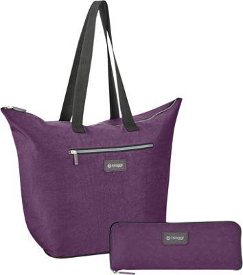 "Image of biaggi Zipsak Microfold 16"" Shopper Tote Purple - biaggi All-Purpose Totes"