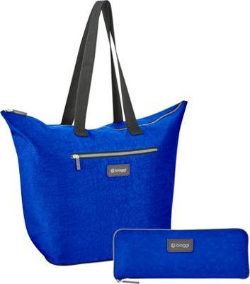 biaggi Zipsak Microfold 16 inch Shopper Tote Cobalt Blue - biaggi All-Purpose Totes