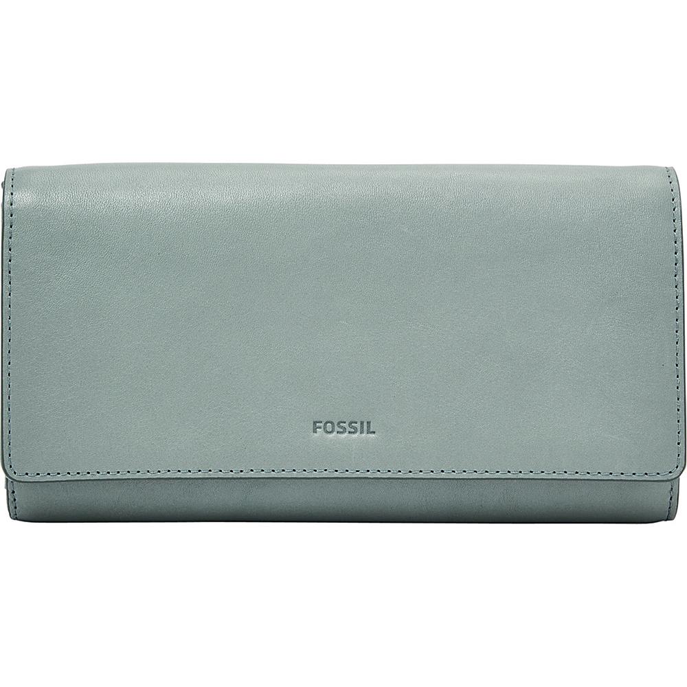 Fossil Emma RFID Flap Clutch Steel Blue - Fossil Womens Wallets - Women's SLG, Women's Wallets