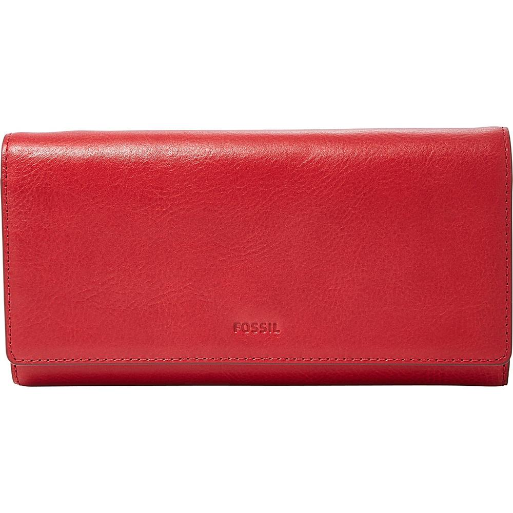 Fossil Emma RFID Flap Clutch Red Velvet - Fossil Womens Wallets - Women's SLG, Women's Wallets