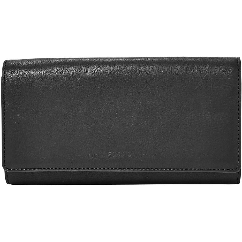 Fossil Emma RFID Flap Clutch Black - Fossil Designer Handbags - Handbags, Designer Handbags