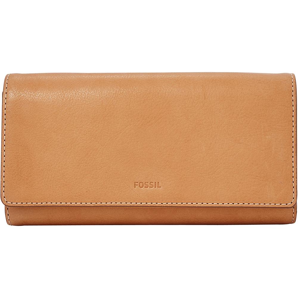 Fossil Emma RFID Flap Clutch Tan - Fossil Designer Handbags - Handbags, Designer Handbags