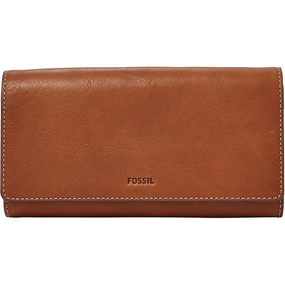 Fossil Emma RFID Flap Clutch Brown - Fossil Designer Handbags - Handbags, Designer Handbags