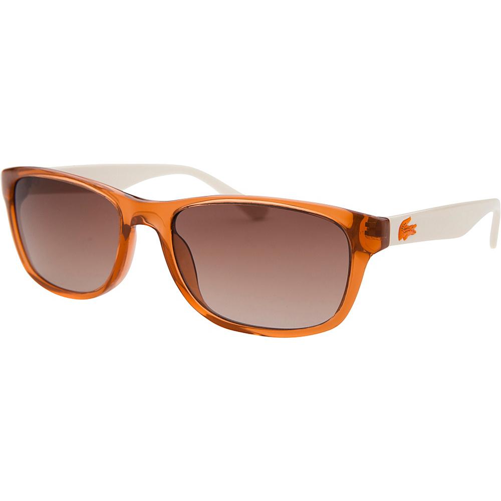 Lacoste Eyewear Rectangle Kids Sunglasses Orange Translucent - Lacoste Eyewear Sunglasses