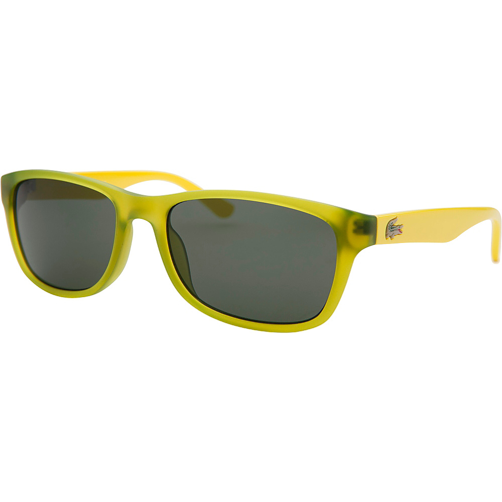 Lacoste Eyewear Rectangle Kids Sunglasses Green Translucent - Lacoste Eyewear Sunglasses