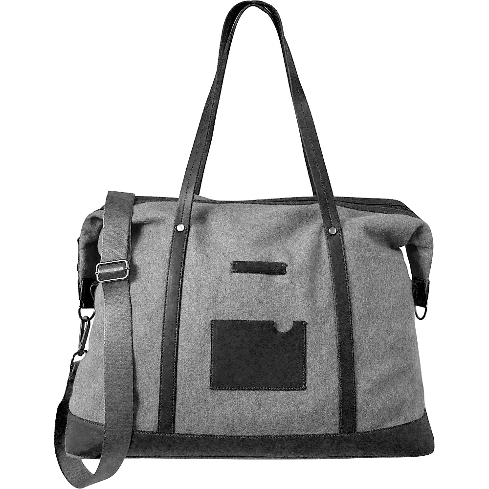 Sherpani Fallon Oversized Weekender Leather Duffel Slate - Sherpani Travel Duffels