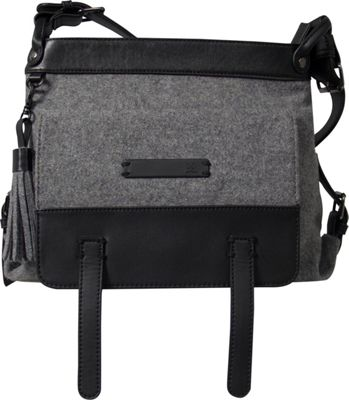 Sherpani Willow Wool Everyday Crossbody Slate - Sherpani Fabric Handbags