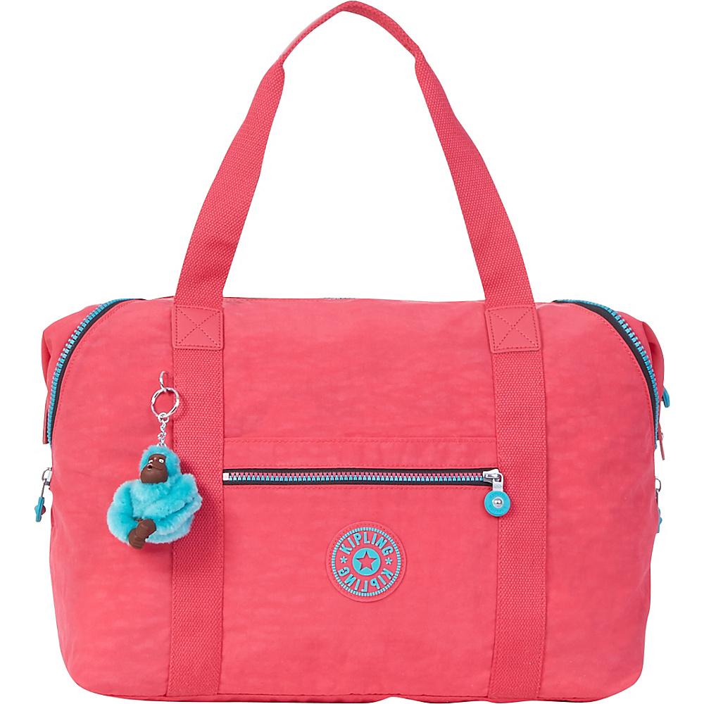 Kipling Art M Tote Vibrant Pink - Kipling Fabric Handbags