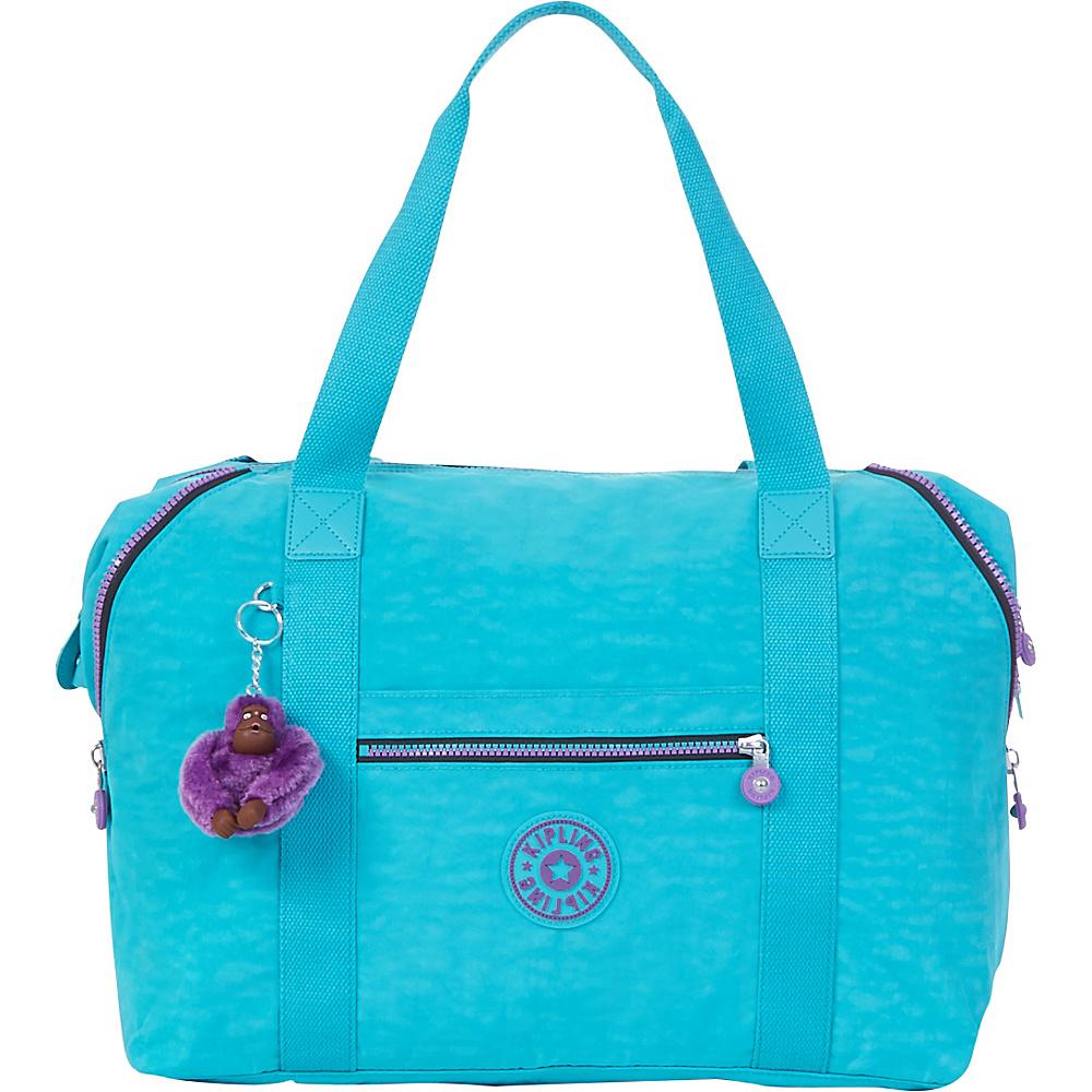 Kipling Art M Tote Cool Turquoise - Kipling Fabric Handbags