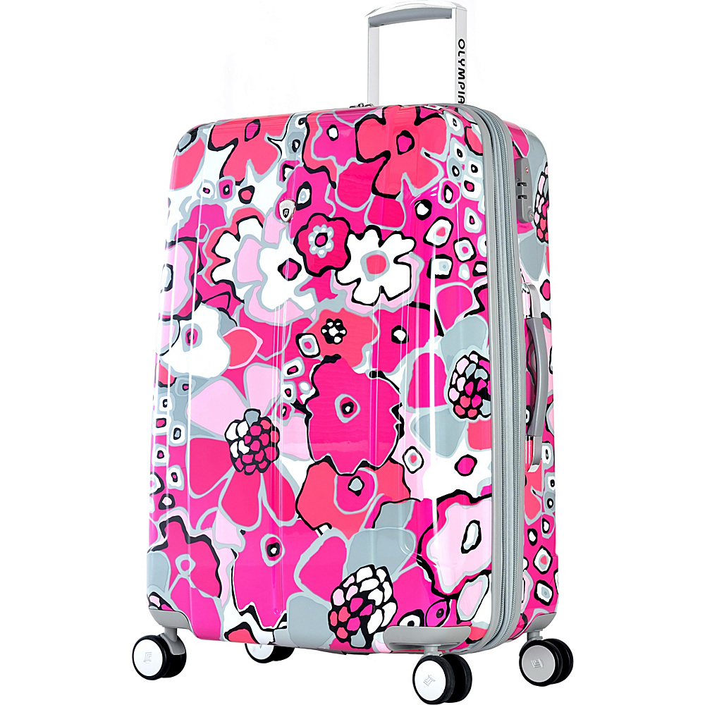 "Olympia USA Blossom II 21"" Spinner Plum - Olympia USA Hardside Carry-On"