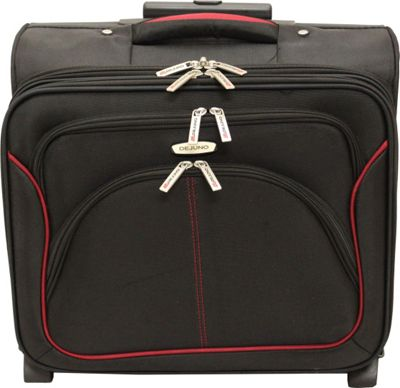 Dejuno Executive Rolling 17 inch Laptop Business Case Black - Dejuno Wheeled Business Cases