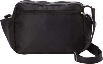 BeSafe by DayMakers RFID Smart Traveler 12 LX Shoulder Bag Black - BeSafe by DayMakers Fabric Handbags