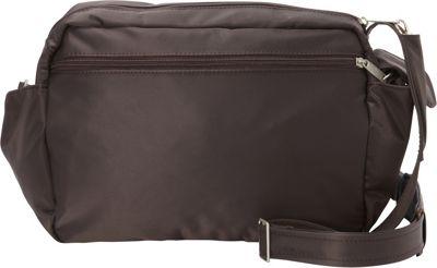 BeSafe by DayMakers RFID Smart Traveler 12 LX Shoulder Bag Espresso - BeSafe by DayMakers Fabric Handbags